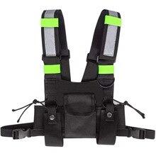 Heavy Duty Work Tool belt Suspender Work tool bag Adjustable black chest Rig Bag with reflective strips tactical vest