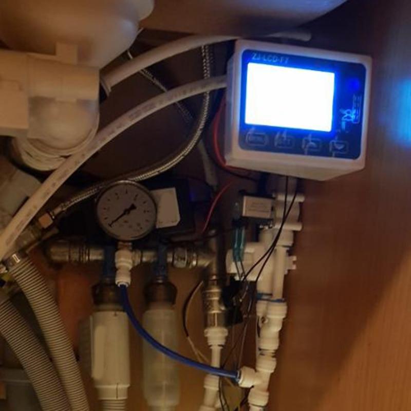 Zj-Lcd-F7 d'affichage du contrôleur de filtre à eau Pure + électrovanne + interrupteur + capteur de débit + Tds