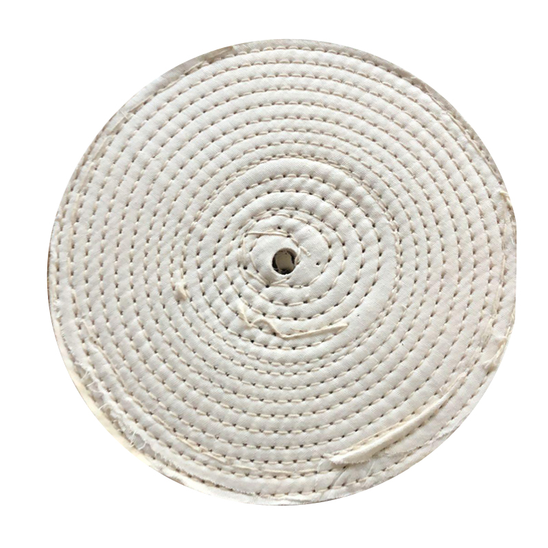 1pc 8 Inches Polish Buffer Polisher Pad 5/8 Arbor Cotton Polishing Wheel Buffing For Rotary Tool Abrasive Tools