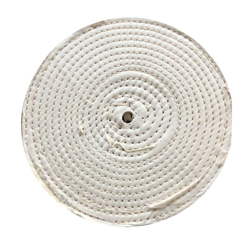 1pc 8 Inches Polish Buffer Polisher Pad 5/8 Arbor Cotton Polishing Wheel Buffing For Rotary Tool Abrasive Tools