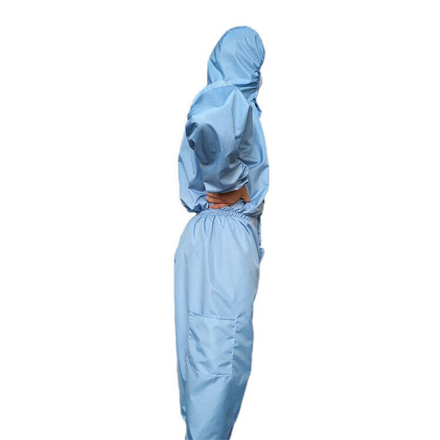 Reusable Anti-Virus Protective Clothing PPE Suit  Coverall Lab Full Body Cover Protection Suit Factory Anti Dust Hazmat Suit 3