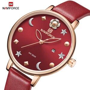 Image 2 - New NAVIFORCE Women Luxury Brand Watch Simple Quartz Lady Waterproof Wristwatch Female Fashion Casual Watches Clock reloj mujer
