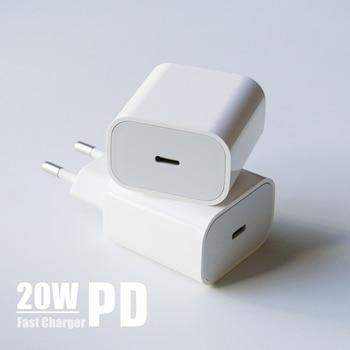 PD 20 Вт USB-C адаптер питания для зарядки электроники с разъемами стандартов США ЕС штекер QC4.0 18W смарт-телефон быстрое зарядное устройство для iPad Pro Air iPhone 12 11 Pro Max Xs X