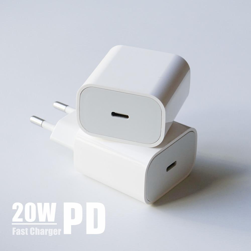 Chargeur adaptateur secteur PD 20W USB-C, prise US EU QC4.0 18W, charge rapide pour smartphone, iPad Pro Air, iPhone 12 mini 11 Pro Max Xs X