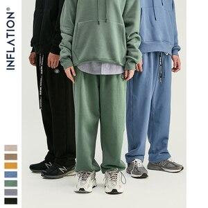 Image 4 - אינפלציה עיצוב סופר רופף Fit גברים מכנסי טרנינג בצבע טהור Loose Fit רטרו סגנון Mens מכנסי טרנינג רחוב ללבוש גברים מכנסיים 93402W