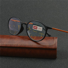אופנה גברים נשים עגול מסגרת progressive multifocal עדשת רטרו שמש photochromic קריאת משקפיים חיצוני משקפי שמש uv400 NX