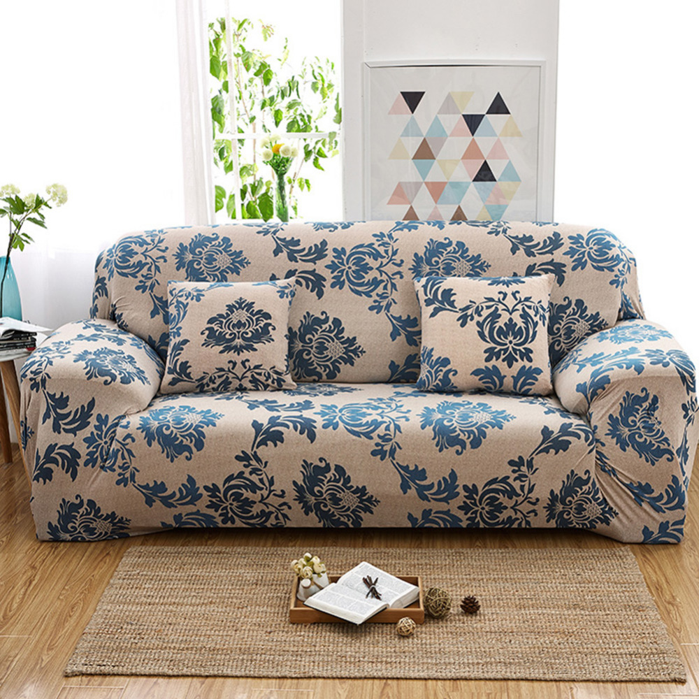 Yeahmart Retro Elastic Sofa Cover Armchair Loveseat Couch Floral Slipcover Chair Protector 1 /2 /3 Seater Sofa Cover Printed