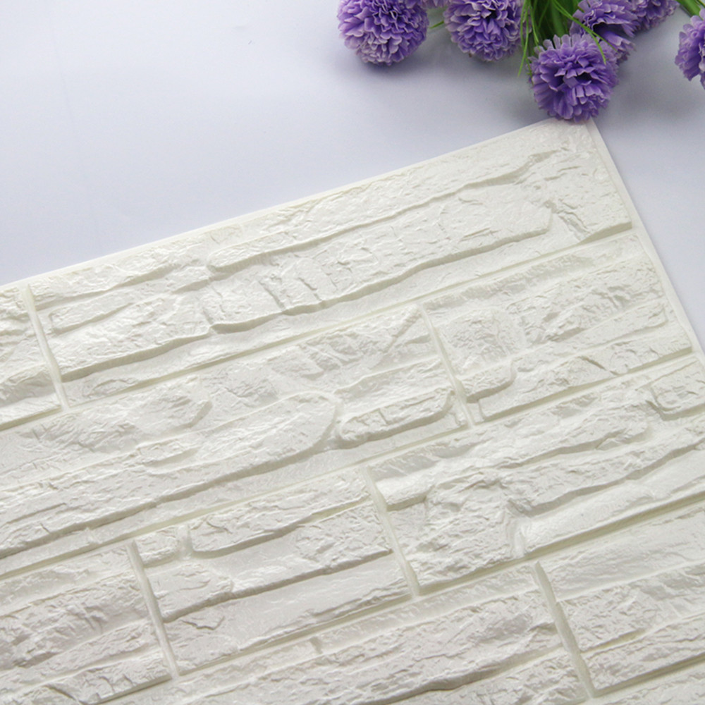 60cm X 30cm 3D Brick PE Foam Wall Sticker Home DIY Wallpaper Panels Room Decal Stone Decoration Embossed Wall Decal Poster