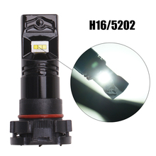 car fog light H16 5202 6LED 80W White auto Fog Lamp CSP chip DRL Daytime Running Light Turning Replacement car Bulb universal 2pcs cree led chip h16 12 smd 1000lm driving lamp white car fog head bulb lights source 5202 drl d030