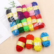 12pcs Multi-color Wool Ball Yarn for Kids Hand Knitting Wool Toys Child Art Yarn Paste Painting Handmade Material Making Tools