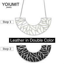 Cremo Stainless Steel Charm Necklace Interchangeable Leather Pendant Chain Big Necklaces & Pendants For Women Jewelry