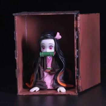 цена Devil's Blade Anime Figures GK Statue UP ART MINI Nezuko PVC Demon Slayer Kimetsu No Yaiba Action Figures Collectible Model Toys онлайн в 2017 году