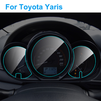Car Instrument Panel Screen Protector for Toyota Yaris 2013-2020 Interior Dashboard Membrane Protective TPU Film Accessories image