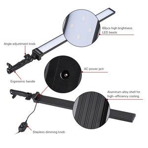 Image 4 - Andoer Kit de estudio de iluminación de vídeo, Kit de luz Led para estudio fotográfico, luz de relleno de mano regulable con soporte de luz 36w 5500K CRI90 +