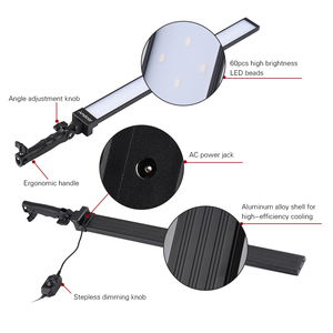 Image 4 - Andoer Video Llightingชุดสตูดิโอสตูดิโอถ่ายภาพไฟLedหรี่แสงได้มือถือเติมแสงW/Light 36W 5500K CRI90 +
