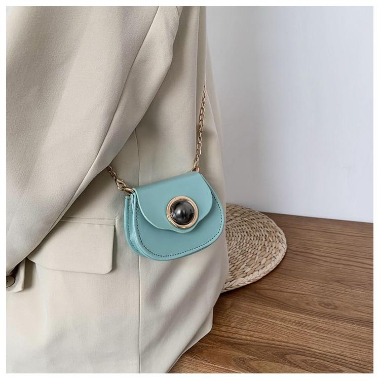 Mini Fashion Pu Soild Color Saddle Bags For Women Small Bag Leather Handbags And Lady Shoulder Bags Cross Body Bag (15)