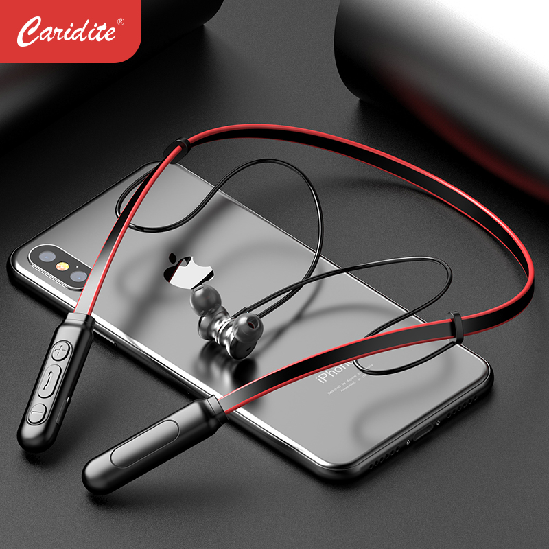 Caridite Popular Neck Bluetooth Earphone Ture Stereo Wireless Fitness Headset Tiktok Gril Gift Sport Neckband Headphone Earphone