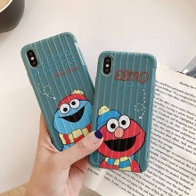 Winter Cartoon Sesame Street Cookie Elmo cute Phone case for coque iPhone 7 Plus 6 6s 8 X XR xs max silicone cover