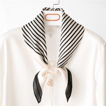 Women Square stripe Head Scarf Wraps Scarves Ladies Printed Kerchief Neck Beautiful Shawl Comfortablel Fashion