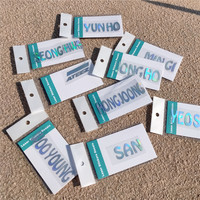 Kpop-pegatina láser para teléfono móvil portátil, pegatina deslumbrante con K-POP de nombre de miembro de ATEEZ, HONG JOONG