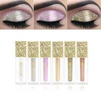 KIMUSE 6 Colors Liquid Eyeshadow Giltter Metallic Diamond Shadows Waterproof shimmer Giltter Highlighter Brighten Makeup