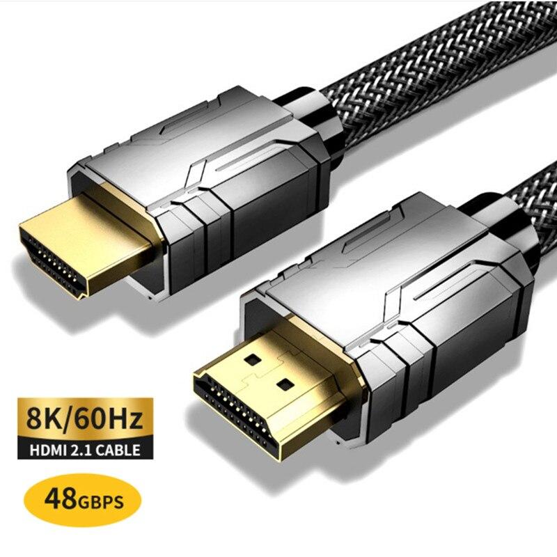 1m 2m 3m 8K cavo HDMI 4K 60HZ UHD HDR 48Gbps V2.1 per Xiaomi Samsung schermo TV PS4 Splitter Switch cavo Audio Video 8K HDMI