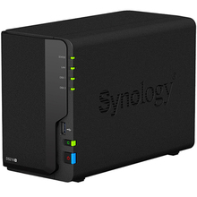 Synology דיסק תחנת NAS DS218 + 2 מפרץ Diskless Nas שרת Nfs רשת אחסון ענן אחסון 3 שנים אחריות אחסון שרת