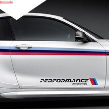 2 pçs 5.8*50cm carro-estilo adesivos m desempenho edição limitada porta lateral reflexiva adesivo para bmw série 1 2 3 4 x m 220i