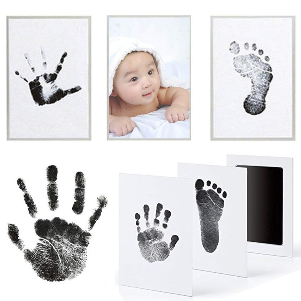 Footprint Set Baby Ink Storage Pads Memento Ink Newborn Photo Frames Sets Baby Gift Boxes Without Ink Tank Handprint Molding