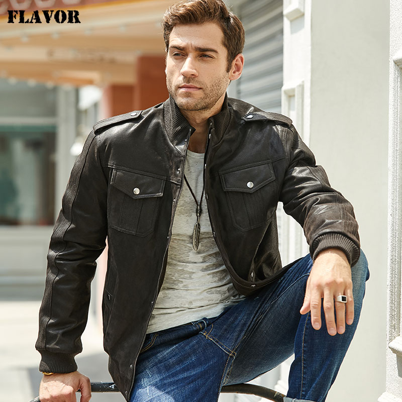 New Men's Leather Jacket Bomber Jacket, Black Jacket Made Of Genuine Leather, Warm Pilot Jacket For The Winter