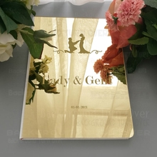 Guest Book Wedding Personalized Signature Decor Custom Mirror Party White Names Date Engrave Carve Blank Favor Customized  G019 oem g019 page 3