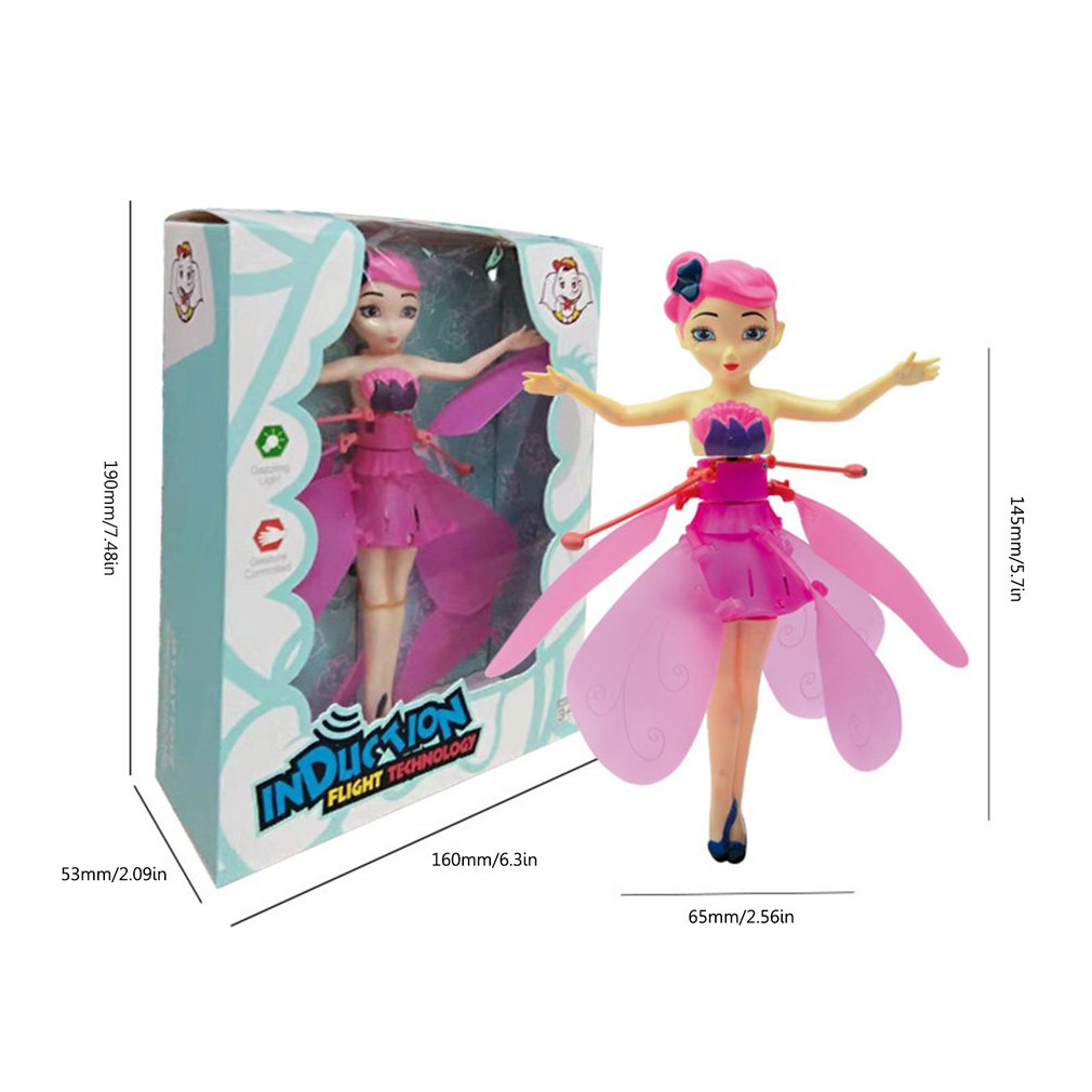Frozen Princess Flying Fairy Magic Infrared Induction Control Figures Toy Gift
