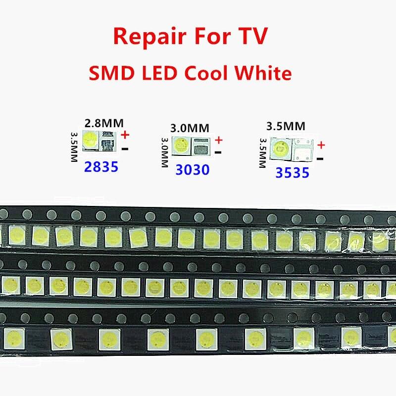 100PCS 6V 2835/3030/3535 Kit SMD LED Lamp Beads 3V Repair FOR TV Backlight Led Lamp Code White