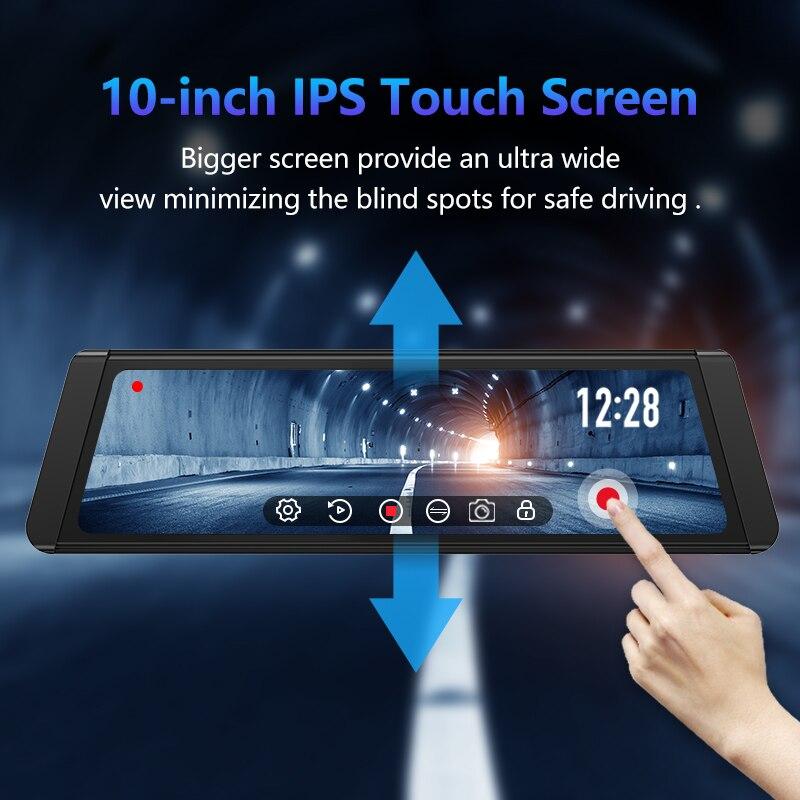JADO Dash Cam DVR T650C Stream Rearview Mirror IPS Car DVR Video Recorder1080P HD Driving Video Dashcam Car Camera 2