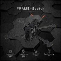 Setor HGLRC Freestyle Distância Entre Eixos 226/260/296mm Braço 5 milímetros 3K Kit Quadro De Fibra De Carbono Para RC Zangão FPV Corrida