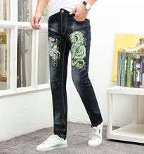 2019 Men Classic Jeans Jean Straight Fashion Man Soft Black Biker Masculino Denim Overalls Mens Pants Plus Size 38 Homme Jeans недорго, оригинальная цена