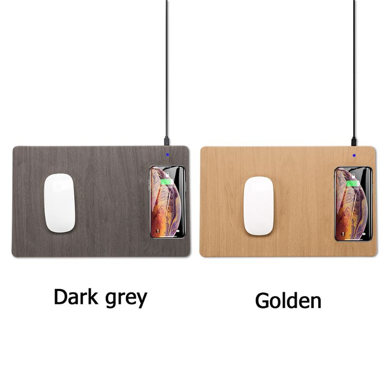 Mobile Phone Qi Wireless Charger Charging Mouse Pad Mat For Apple Samsung Xiaomi