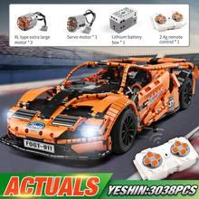 Yeshin-coche de carreras MOC FORD GT, Compatible con Motor teledirigido 3038, coche de bloques de construcción, juguete para niños, regalo, 10792 Uds.