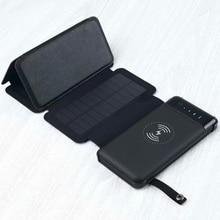 Waterproof 12000mah Solar Power Bank Qi Wireless Charger Pow