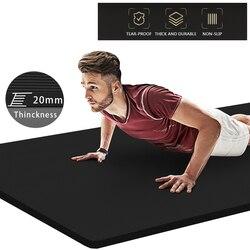 20 мм Экстра Толстая бутадиен-нитрильный каучук йога коврик 200*90 см Высокое качество тренировки спортивные маты для спортзала дома Фитнес бе...