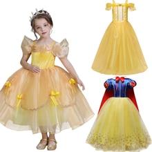 Meisjes Fancy Prinses Jurk Voor Verjaardag Wedding Party Kids Halloween Cosplay Kostuum Kinderen Meisjes Kleding Gewaad Fille Jurken