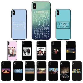 FHNBLJ Hawk Nelson songs lyrics Silicone Black Phone Case for iphone 11 Pro Max X XS MAX 6 6s 7 8 Plus 5 5S 5SE XR SE2020 image