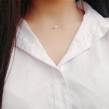 Venda quente moda praça imitação pérola cristal zircão gargantilha colares invisível transparente linha de pesca colar feminino