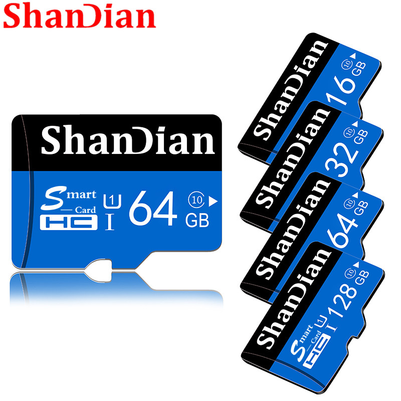 ShanDian Memory Card Smart SD Card 32GB 64GB 16GB 8GB Class10 TF Card Smartsd Pen Drive Flash Memory Disk For Smartphone/camera