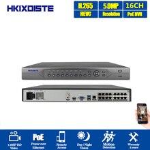 16CH Full HD 5MP 4K Onvif 16 porte (IEEE802.3at/af) RJ45 HDMI POE NVR Per La Macchina Fotografica del IP PTZ TELECAMERA Speed Dome CCTV Registratore Video di Rete