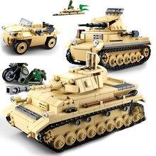 Segunda guerra mundial veículos militares modelo de tanque, painzer ii iv soviet t34 avião, soldados, figuras de construção, brinquedo