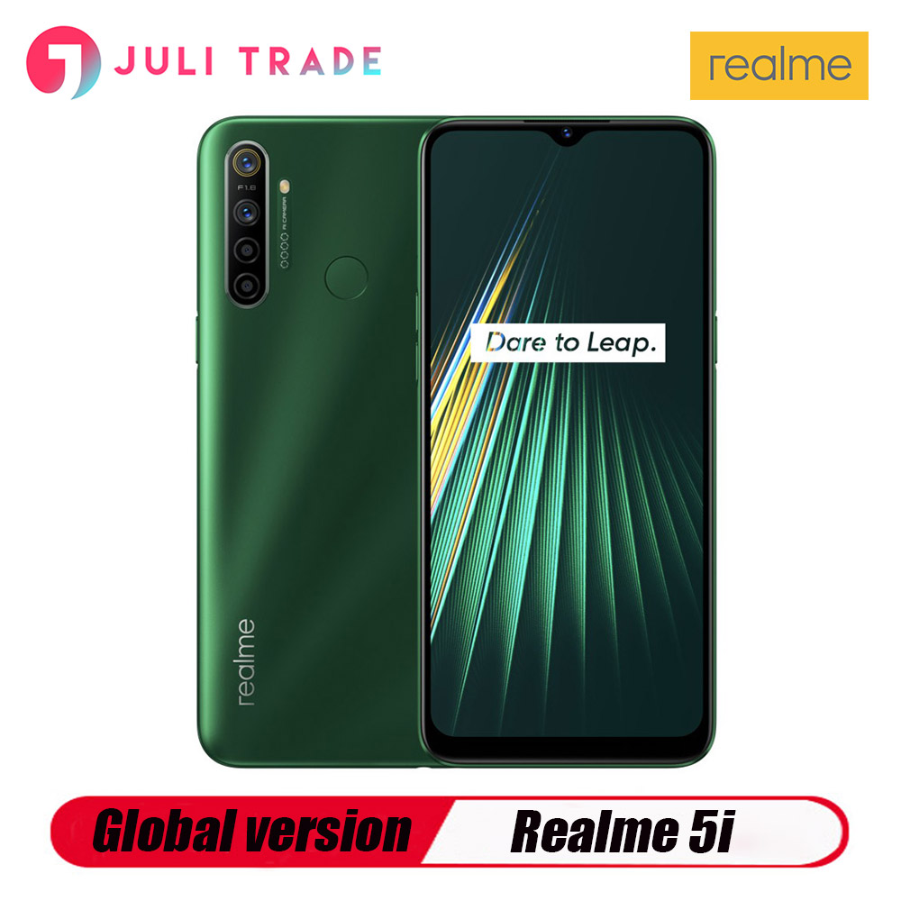 Global Version Realme 5i 4GB 64GB Moblie Phone Snapdragon 665 AIE 6.5'' Full Screen 10W Charger 5000mAh Quad Camera Cellphone