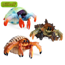 Simulation Ocean Animals ABS Hermit Crab Action Model Figures Collection Cognition Educational Toys for Childrens Christmas Gift
