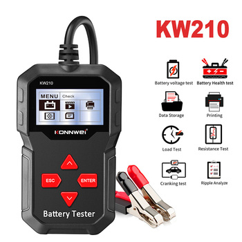 цена на KONNWEI KW210 Car Battery Load Tester 12V 100-2000 CCA Professional Automotive Alternator Digital Analyzer Voltage Test Tool