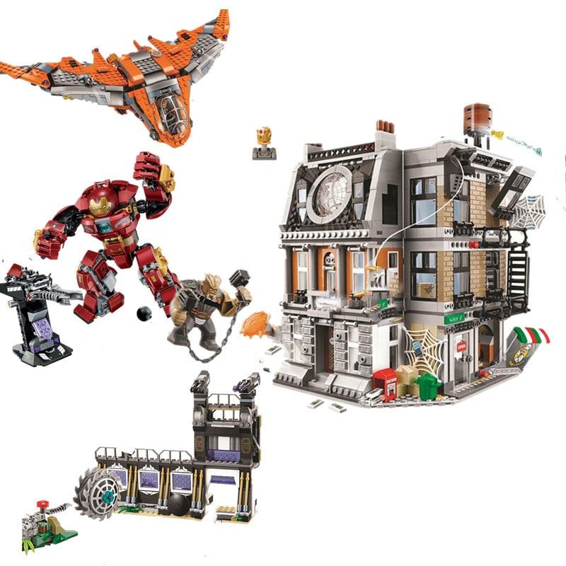 New Marvel Avengers Infinity War 76104 Super Hero Ironman Hulkbuster Building Blocks Bricks Toys For Children With Legoinglys